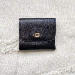 COACH • Black Trifold Wallet